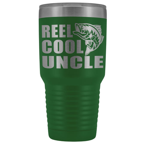 Image of Reel Cool Uncle 30oz. Tumblers Uncle Travel Mug green