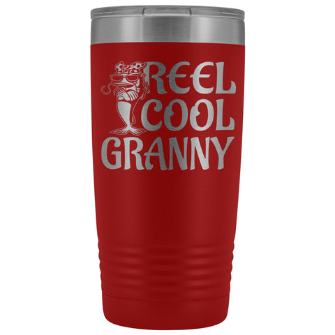 Reel Cool Granny Fishing 20oz Tumbler red