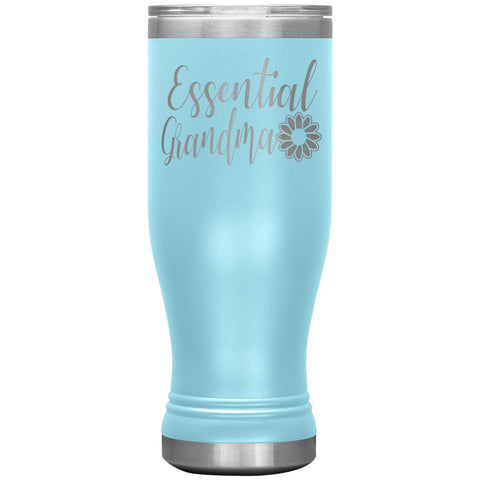 Image of Essential Grandma Tumbler Cup, Grandma Gift Idea light blue