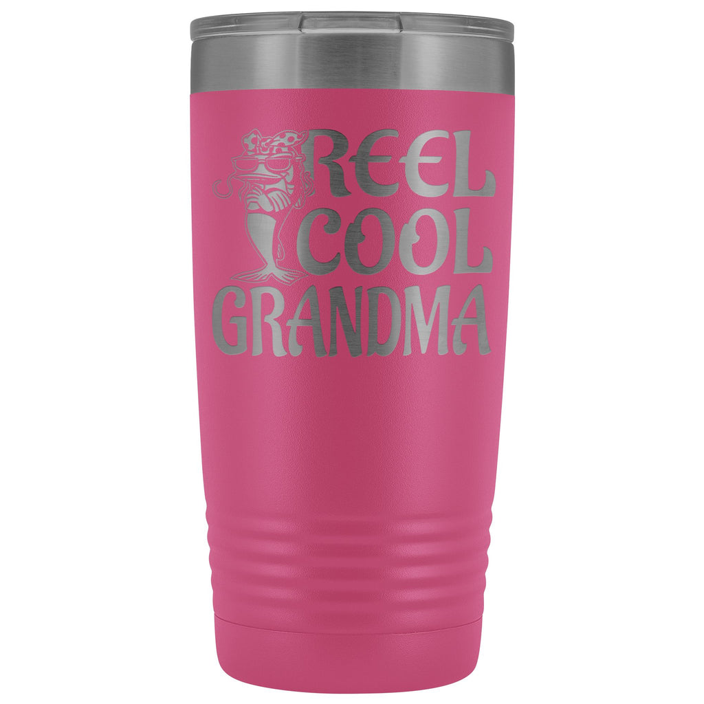 Reel Cool Grandma Fishing 20oz Tumbler pink