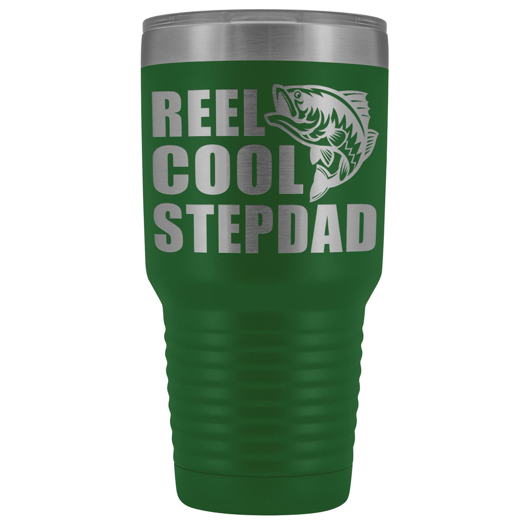 Reel Cool Stepdad 30oz. Tumblers Step Dad Travel Mug green
