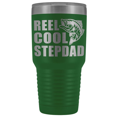 Image of Reel Cool Stepdad 30oz. Tumblers Step Dad Travel Mug green