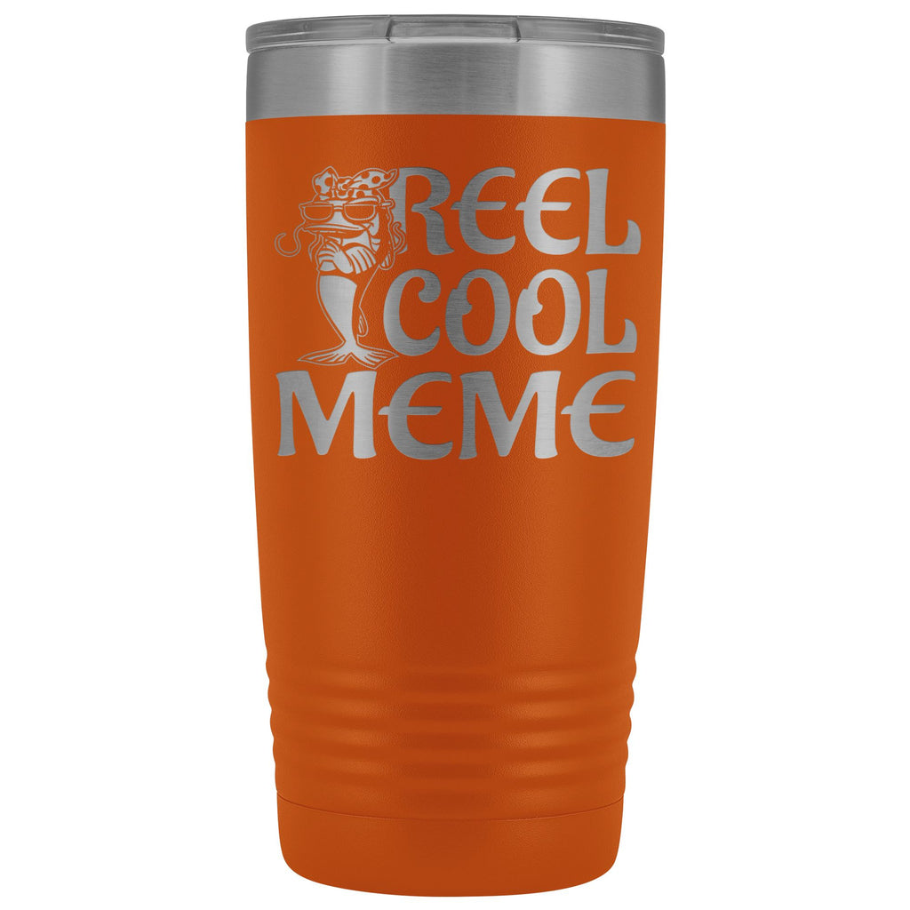 Reel Cool Meme 20oz Tumbler orange