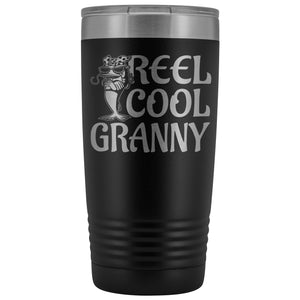 Reel Cool Granny Fishing 20oz Tumbler black