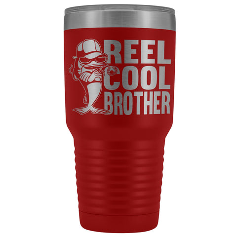 Image of Reel Cool Brother 30oz.Tumblers Brothers Travel Coffee Mug red