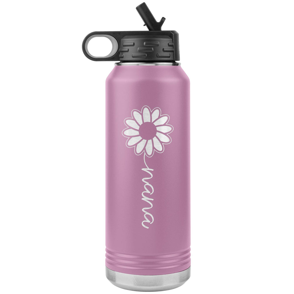 Sunflower Nana Water Bottle Tumblers light purple