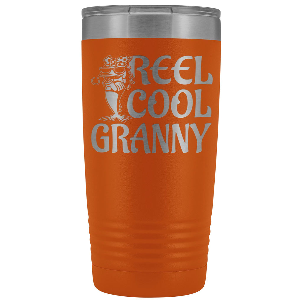 Reel Cool Granny Fishing 20oz Tumbler orange