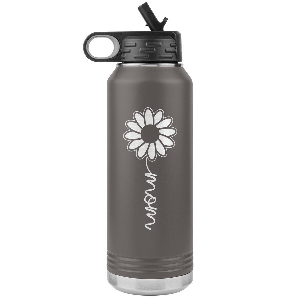 Sunflower Mom Water Bottle Tumblers pewter