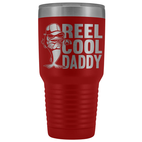 Image of Reel Cool Daddy 30oz.Tumblers Daddy Travel Coffee Mug red