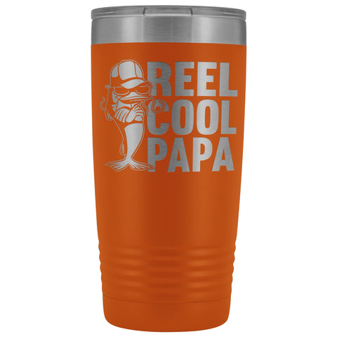 Reel Cool Papa Fishing Papa 20oz Tumbler orange