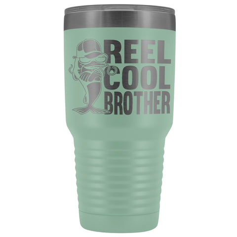 Reel Cool Brother 30oz.Tumblers Brothers Travel Coffee Mug teal
