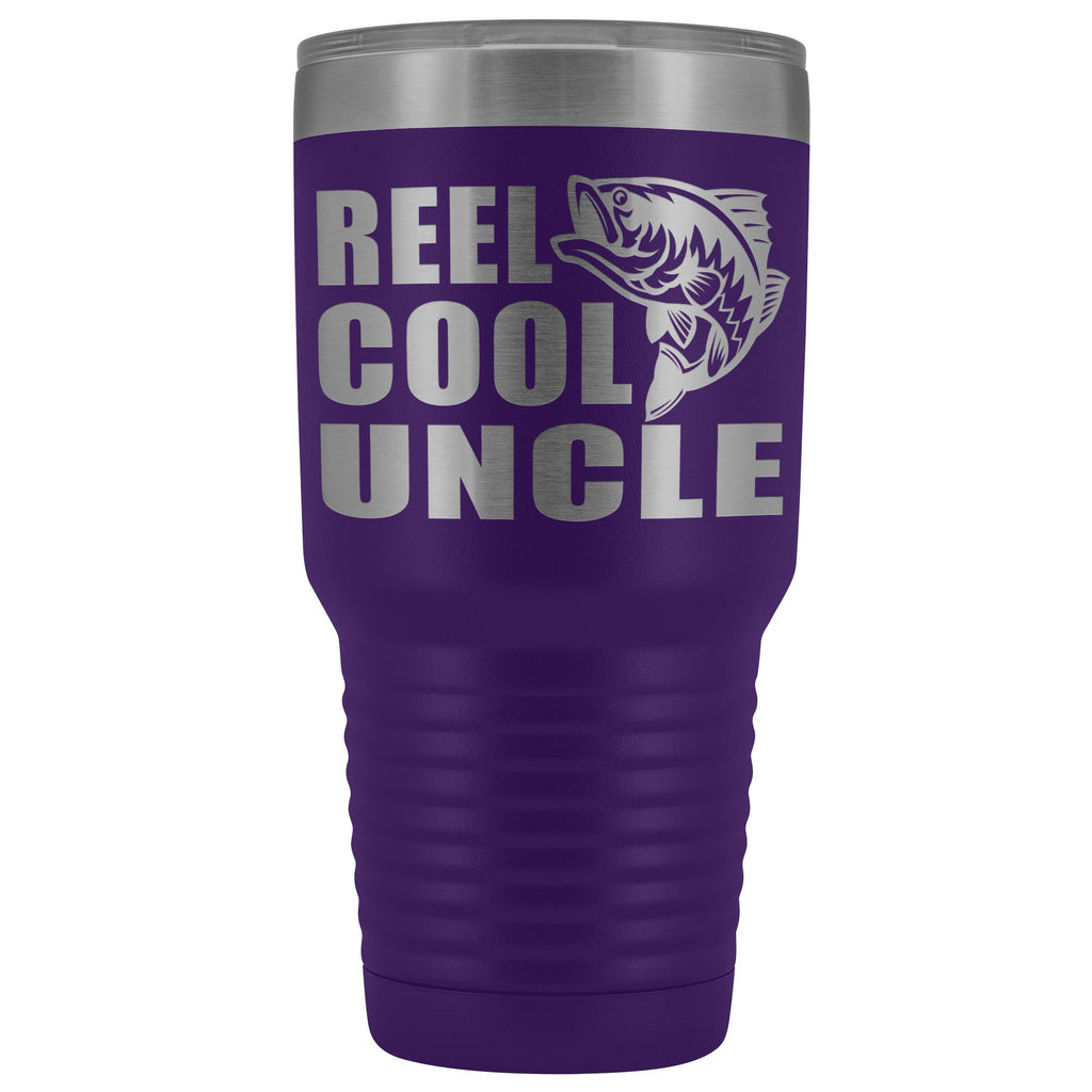 Reel Cool Uncle 30oz. Tumblers Uncle Travel Mug purple