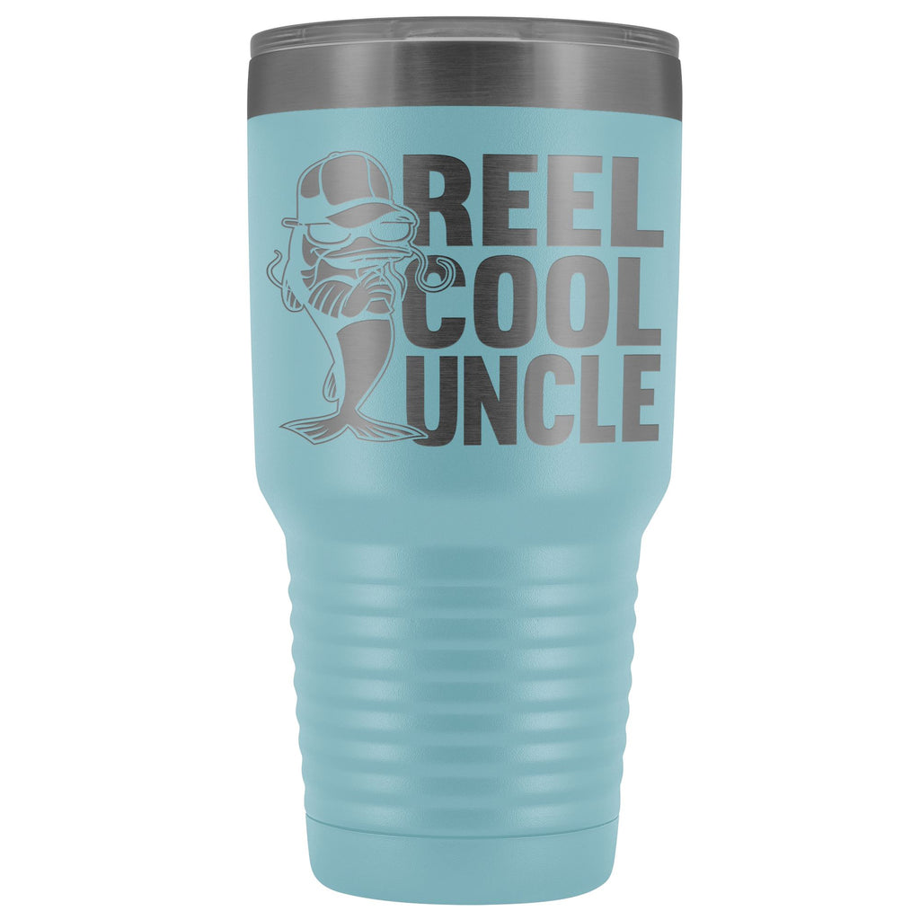 Reel Cool Uncle 30oz. Tumblers Uncle Travel Mug light blue