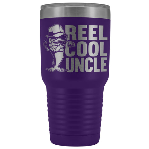 Image of Reel Cool Uncle 30oz. Tumblers Uncle Travel Mug purple