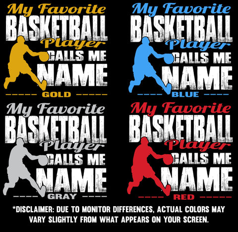 My Favorite Basketball Player Design color samples 1