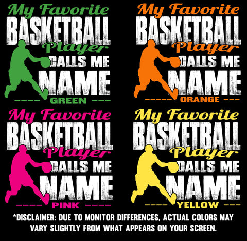 My Favorite Basketball Player Design color samples 2