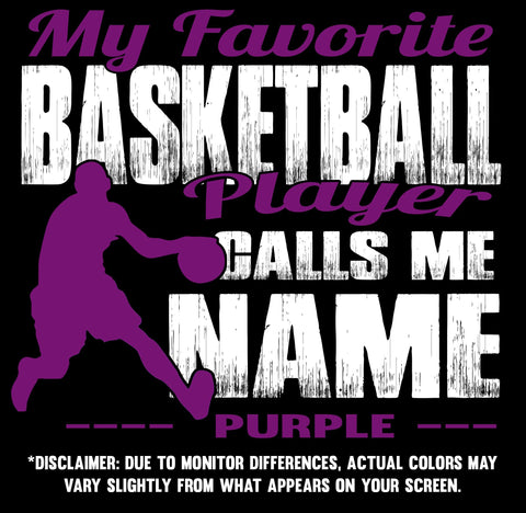 My Favorite Basketball Player Design color samples 3