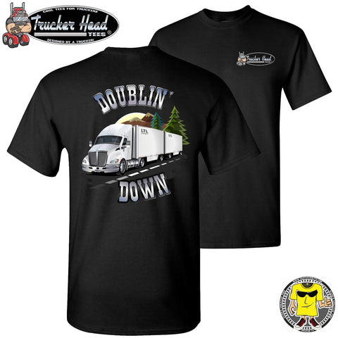 Image of Doublin' Down LTL Truck Driver T-Shirt black