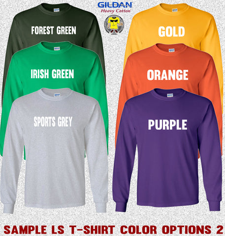 Gildan Long Sleeve T-Shirt Color Options 2