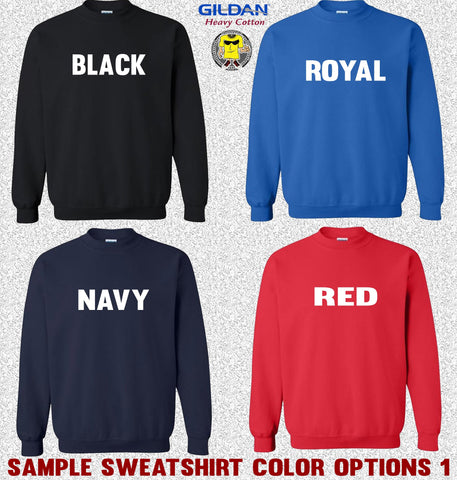 Image of Gildan Sweatshirt Color Options 1