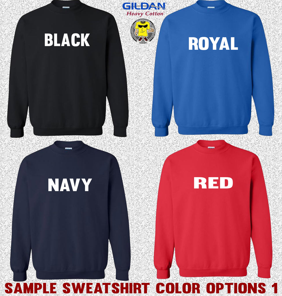Gildan Crewneck Sweatshirt Color Options 1