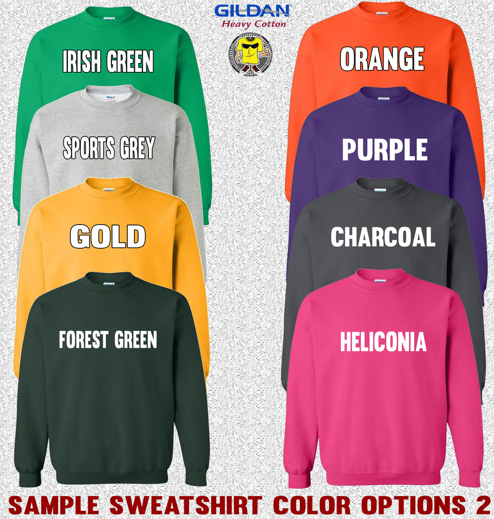 Gildan Crewneck Sweatshirt Color Options 2