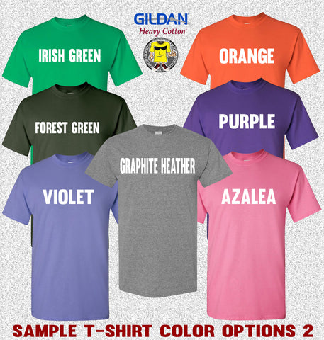 Image of Gildan T-Shirt Color Options 2