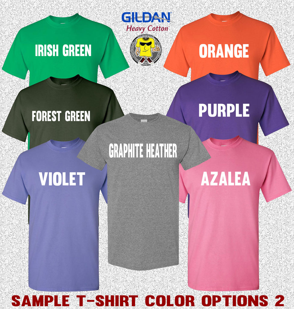 Gildan T-Shirt Color Options 2