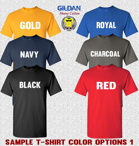 Image of Gildan tshirt color options 1