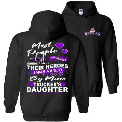 Image of My Hero Truckers Daughter Hoodies pullover