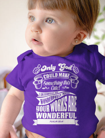 Image of Only God Could Make Something This Cute Christian Baby Onesie mock up
