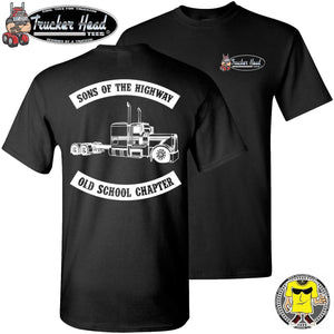 Sons Of The Highway Old School Chapter Old School Trucker Shirts