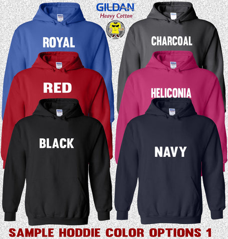 Image of Gildan Hoodie Color Options 1