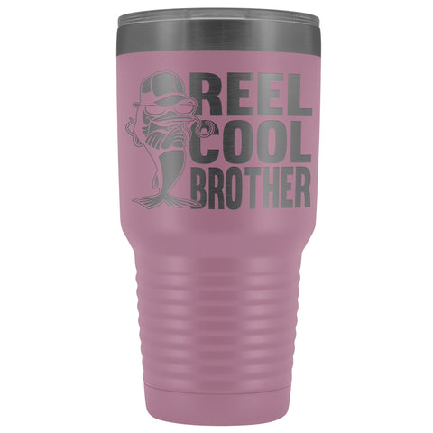 Image of Reel Cool Brother 30oz.Tumblers Brothers Travel Coffee Mug light purple