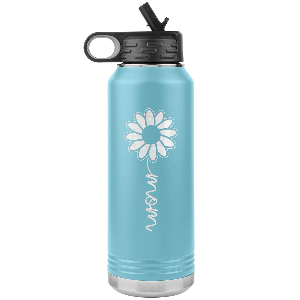 Sunflower Mom Water Bottle Tumblers light blue