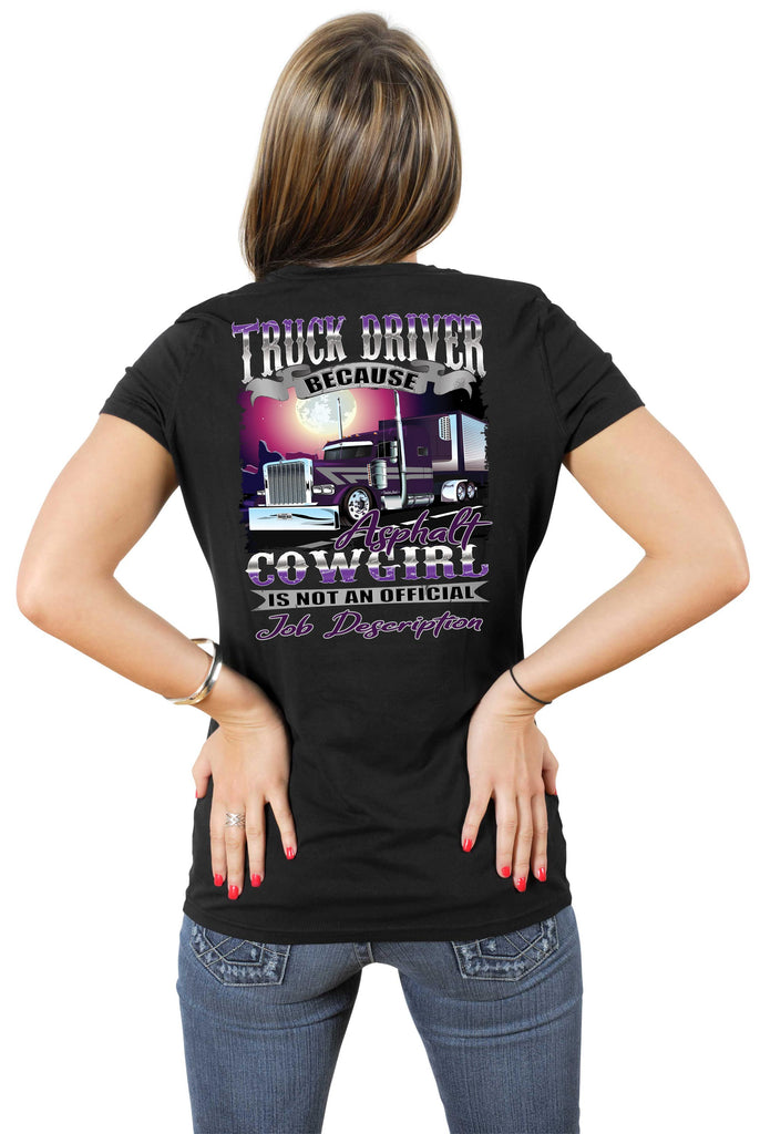 Asphalt Cowgirl Women's Trucker Shirts mock up