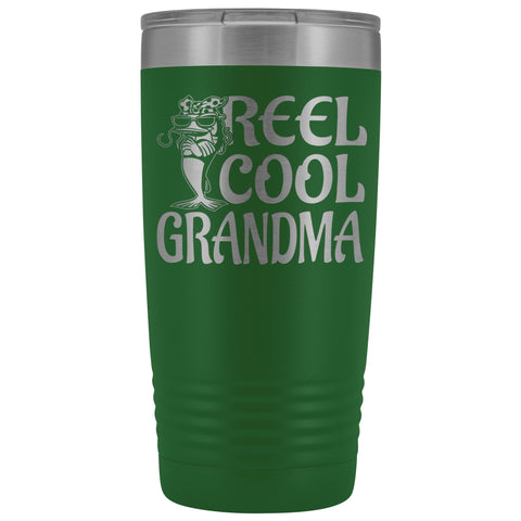 Image of Reel Cool Grandma Fishing 20oz Tumbler green
