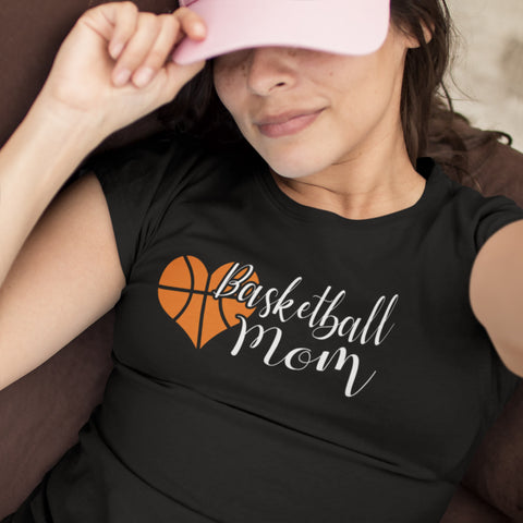 Basketball Mom T Shirts mock up