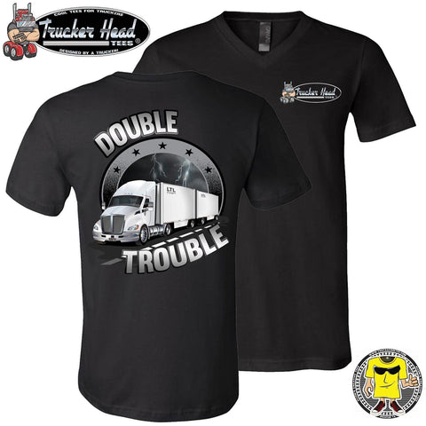 Image of Double Trouble LTL Truck Driver T-Shirt bv
