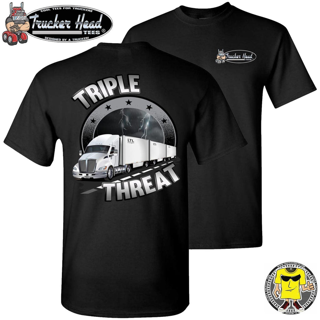 Triple Threat LTL Truck Driver T-Shirt bc