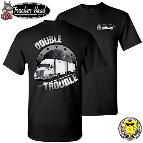 Image of Double Trouble LTL Truck Driver T-Shirt bc