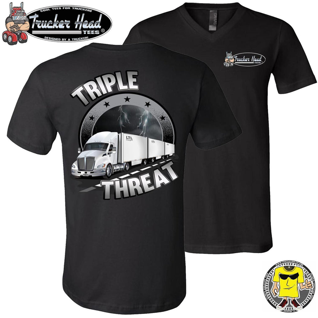 Triple Threat LTL Truck Driver T-Shirt vb
