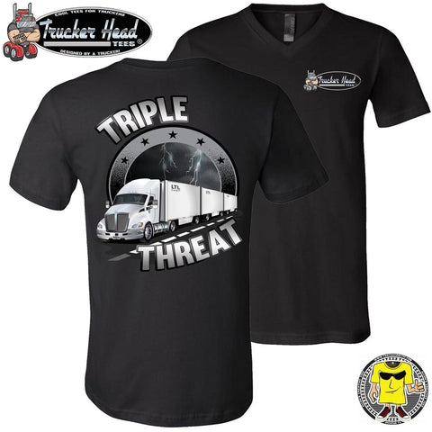 Image of Triple Threat LTL Truck Driver T-Shirt vb