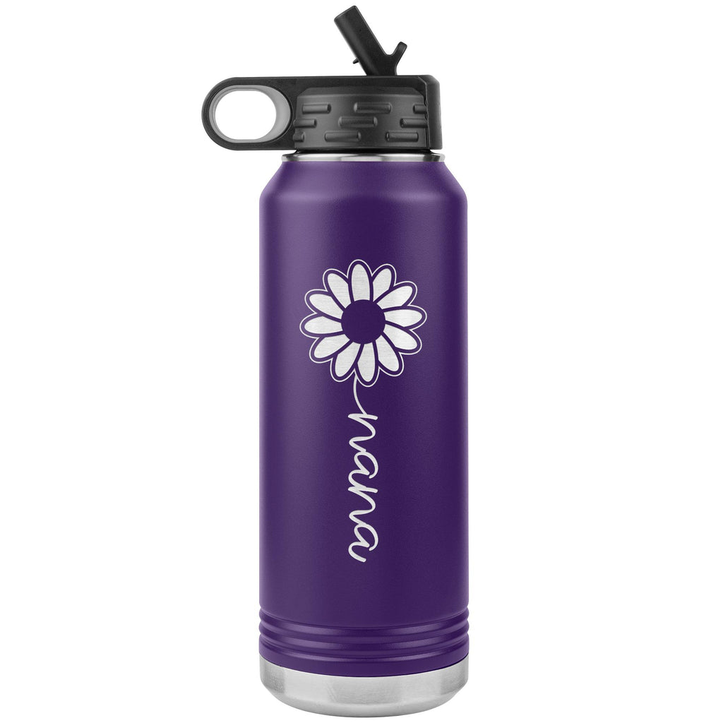 Sunflower Nana Water Bottle Tumblers purple