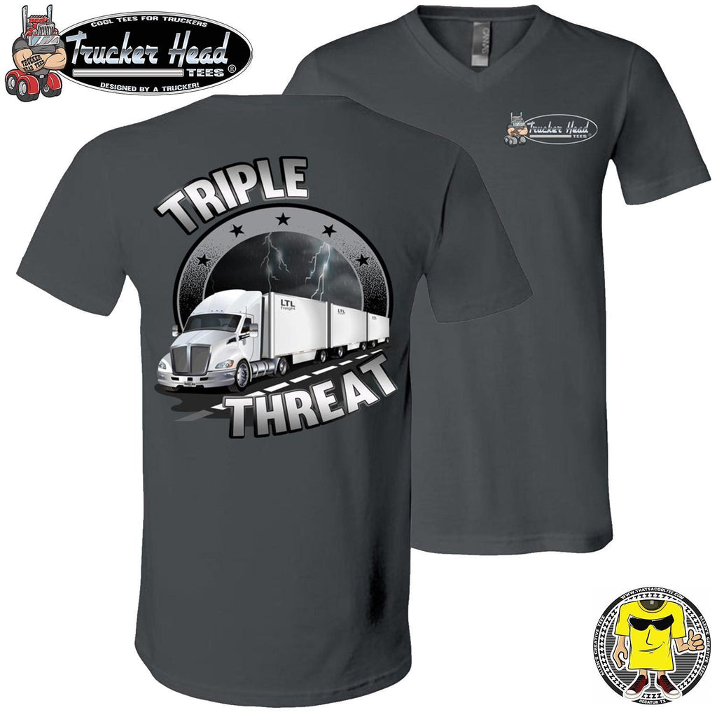 Triple Threat LTL Truck Driver T-Shirt chv