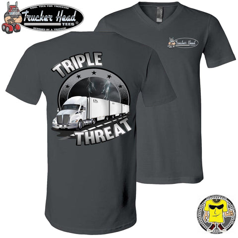 Image of Triple Threat LTL Truck Driver T-Shirt chv