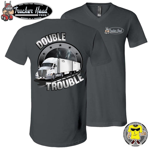 Image of Double Trouble LTL Truck Driver T-Shirt chv