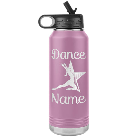 Image of Dance Tumbler Water Bottle, Personalized Dance Gifts light purple