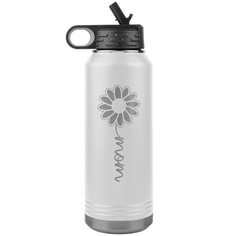 Image of Sunflower Mom Water Bottle Tumblers white