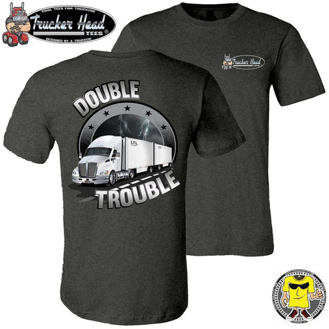 Image of Double Trouble LTL Truck Driver T-Shirt dgc